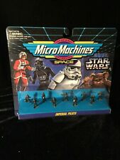 Galoob Star Wars Micro Machines IMPERIAL PILOTS 1994 On Card 9 figures Vintage