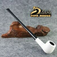 "Balandis original Tobacco 215mm / 8.46"" Churchwarden smoking pipe * White LADY *"