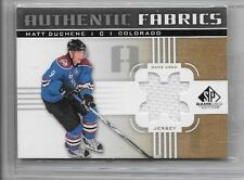 MATT DUCHENE 2011-12 SP GAME USED AUTHENTIC FABRIC GOLD GAME USED JERSEY {#}