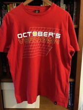 OCTOBER'S VERY OWN Large Red GRAND SLAM GRAPHIC PRINT T-Shirt OVO Drake