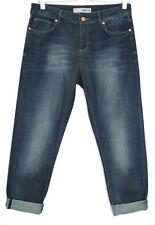 Indigo, Dark wash Boyfriend Regular Mid Jeans for Women