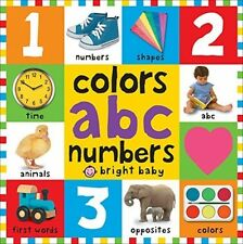 Colors, ABC and amp; Numbers, Early Learning Letters Board Books Toddlers NEW