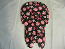 Stack High Chair Cover In Black With Pink And White Flowers  ~~~WIPEABLE~~~