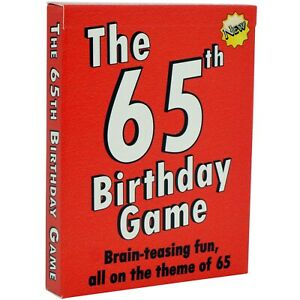Amusing new 65th Birthday Gift for men or women: THE 65th BIRTHDAY CARD GAME