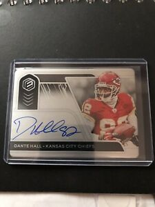 Dante Hall Kansas City Chiefs 2020 Elements Football On Card Metal Auto SP 26/99