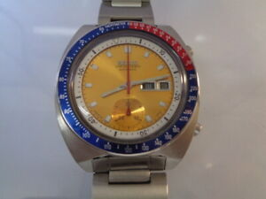 Seiko Pogue Automatic Chronograph Mens Watch 6139-6005 Day & Date SN. 642030