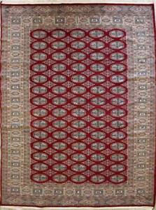 Rugstc 5x8  Bokhara Jaldar Red Area Rug,Genuine Hand-Knotted, Silk/Wool Pile