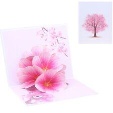 Peach Blossom Greeting Cards Handmade Birthday Wedding Invitation 3D Card New