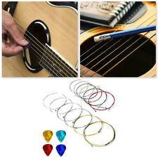 Set of 12 Nylon Acoustic Guitar Strings Replacement With 4Pcs Guitar Picks