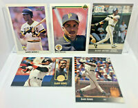 Barry Bonds - 5 Card Lot 1991 Fleer Ultra, Upper Deck SP, Leaf, Select SF Giants