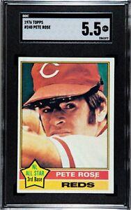 1976 Topps #240 Pete Rose SGC 5.5 EX+