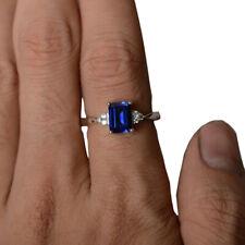 Romantic Womens Silver Ring Wedding Engagement Aquamarine Jewelry Sz 6,7,8,9,10