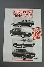 Car Brochure, Vauxhall 1986 Astra Mk2 Belmont Carlton