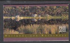 Australia 1992 Wetlands and Waterways Booklet blue water cream paper B169b