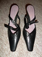 Ladies Real Leather Shoes Size UK 7 EU 40