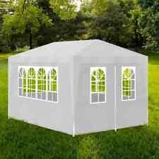 vidaXL Party Tent 10'x13' White Outdoor Garden Wedding Patio Gazebo Canopy