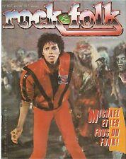 REVUE : Rock & Folk # 207 michael jackson clash yes lou reed dire straits