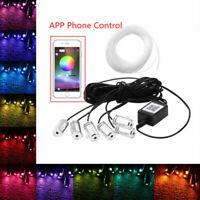 8m RGB LED Car Interior Atmosphere Light EL Neon Strip Lamp Phone APP Control