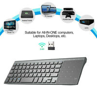 Portable Mini 2.4G Wireless USB Keyboard With Touchpad For Windows PC Smart  UK