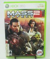 MASS EFFECT 2, 2-DISC GAME F/ MICROSOFT XBOX 360, CASE, GAME DISCS, MANUAL, GUC