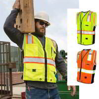 NEW ML Kishigo Black Series Heavy Duty Vest 1513-1514