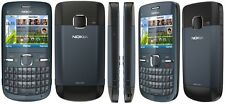 New Condition Nokia Brand C3-00 Blue (Unlocked )Wifi Qwerty Keypad Mobile Phone