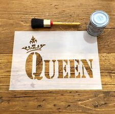 Queen Crown Stencil A4, Royal Crown Stencil, Queen Stencil, Wall Furniture Art