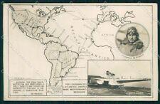 Militari Aviazione De Pinedo Transvolata Oceanica Fascismo Foto cartolina XF6321