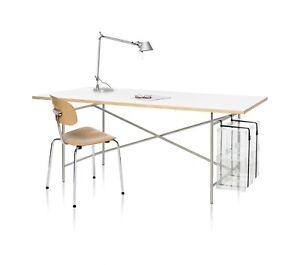 PC-Halter für Egon Eiermann Tischgestell von Adam Wieland, chrom