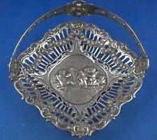 Schale Konfektschale Henkelschale Engel Putten 800er Silber