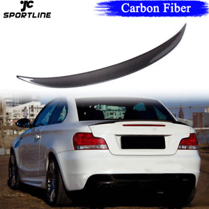 Carbon Rear Trunk Boot Wing Spoiler Lip for BMW 1Series E82Coupe 120i 135i 08-13