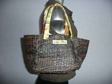 bf27ba0c119 Volcom women s Shoulder beach straw bag Brown black