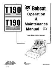 New Bobcat T190 Turbo & Highflow Operation & Maintenance Manual 6902692 Free S&H