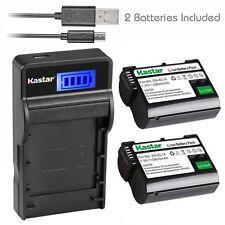 Kastar EL15 Battery Slim LCD Charger for Nikon 1 V1 D610 D750 D800 D800E D7000