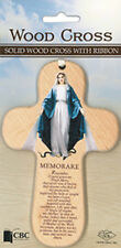 VIRGIN MARY OUR LADY WOOD CROSS WITH PRAYER - STATUES PICTURES CANDLES LISTED