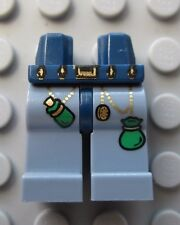 Lego SAND BLUE Minifigure Legs GOOD WIZARD Castle Gold/Green Design -NEW-