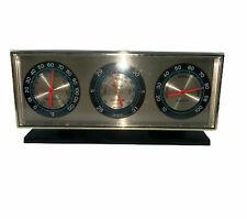 VINTAGE Springfield Instrument Co desk barometer  thermometer humidity gauge