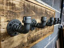 Industrial rústico Perchero Percha o ganchos, tubo de hierro, Vintage Steampunk