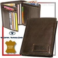 TOM TAILOR Herren-Geldbörse (dunkelbraun) Geldbeutel Portemonnaie Geldtasche NEU