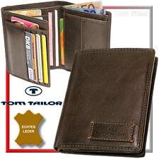 TOM TAILOR porte-monnaie d'hommes (brun foncé) Porte-monnaie portefeuille NEUF