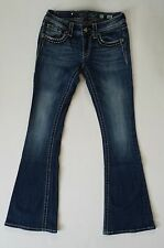 Miss Me Jeans Flare Women's 27 Boot Cut Medium Stonewashed Studded Bling Pockets
