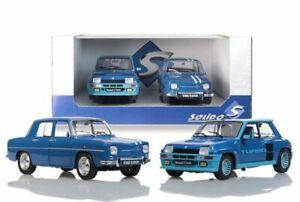 SOLIDO 180005 Renault 2 x road car set R8 Gordini 1100 & R5 Turbo 1:18th scale