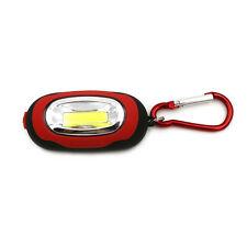 Portable Super Mini COB Light LED FlashLight Key Ring Torch 3-Mode Keychain Lamp