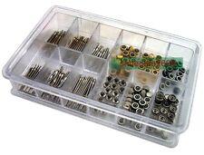 144 Pcs Watch Stem + Crown Parts Assortment Spare Parts Box Set 0196