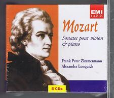 MOZART 5 CDS SET NEW PIANO SONATAS & PIECES FRANK PETER ZIMMERMANN