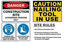 Builders Sign, Site Sign, OHS Sign, 4 in 1 Sign, Safety Sign, Hazzard Sign,