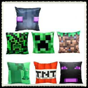 New Minecraft BeD Pillow  Set Reversable Set Two Creeper Gamer Video Game Decor