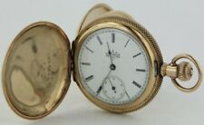 117 14Kgf Hunter's Case Pocket Watch 1894 Elgin 6s 7 Jewel Grade