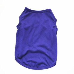 Pet Dog Puppy Vest Comfortable Cotton Short Pure Color Clothes T-Shirt Apparel