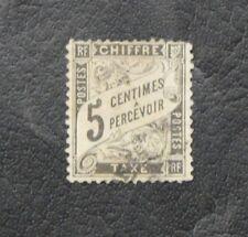 TIMBRES DE FRANCE 2ème CHOIX : TIMBRES-TAXE N° 14 - 5 CENTIMES NOIR - DEFECTUEUX